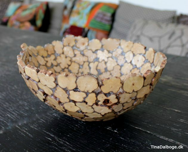 diy på en kreativ ide og ny måde at lave en skål ud af træmiks og paverpol