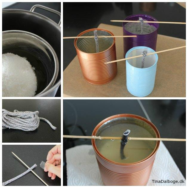 diy udelys og haveblus i konservesdåse med udendørsvæge