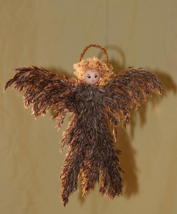 engel lavet af tagrør