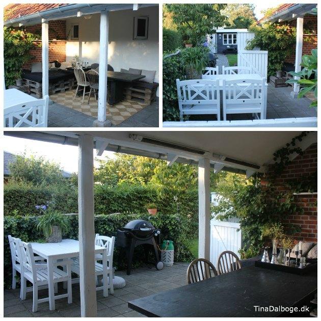 før og efter billeder af en terrasses forvandling - gør det selv projekt i haven tinadalboge.dk