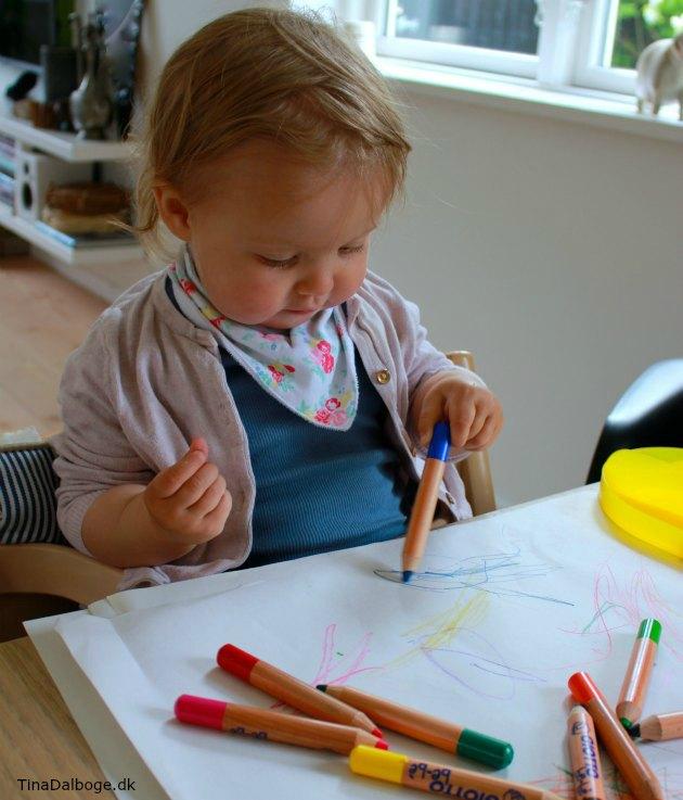 farveblyanter til små børn giotto kreahobshop