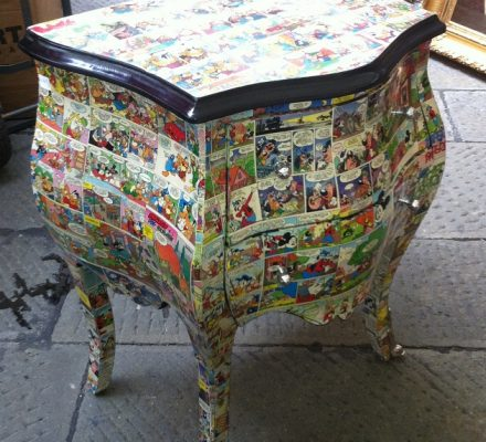 Decoupage på rokoko møbler