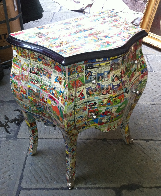 Decoupage p rokoko mbler