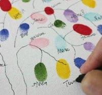 GÆSTETRÆ DIY Indslag til fester med gæsters fingeraftryk
