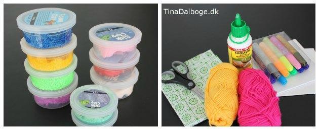 foam clay og silk clay som kreative ideer