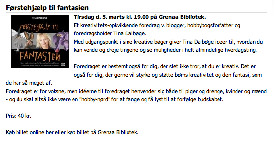 foredrag om kreativitet p bibliotek
