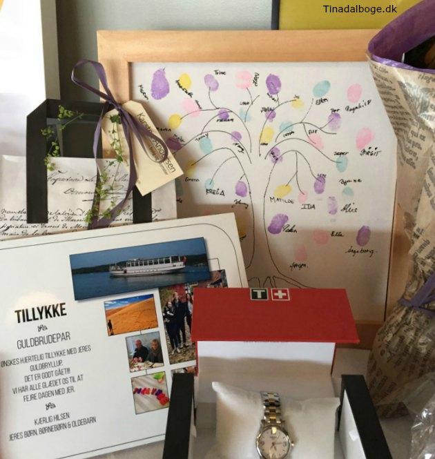 gave og indslag til fester - træ med fingeraftryk