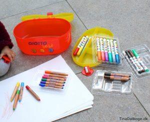 gaveide kuffert med farveblyanter til mindre børn giotto kreahopshop