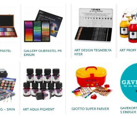 gaveideer og gavekort til kreative materialer