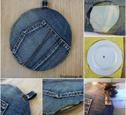 sådan kan du genbruge cowboybukser til grydelapper