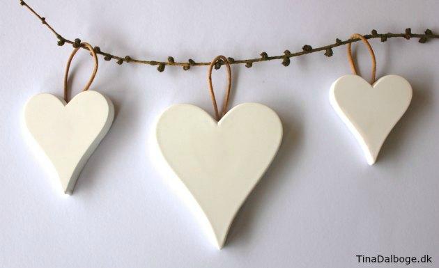 hjerter støbt af stærk gips cera-mix støbemasse fra kreahobshop