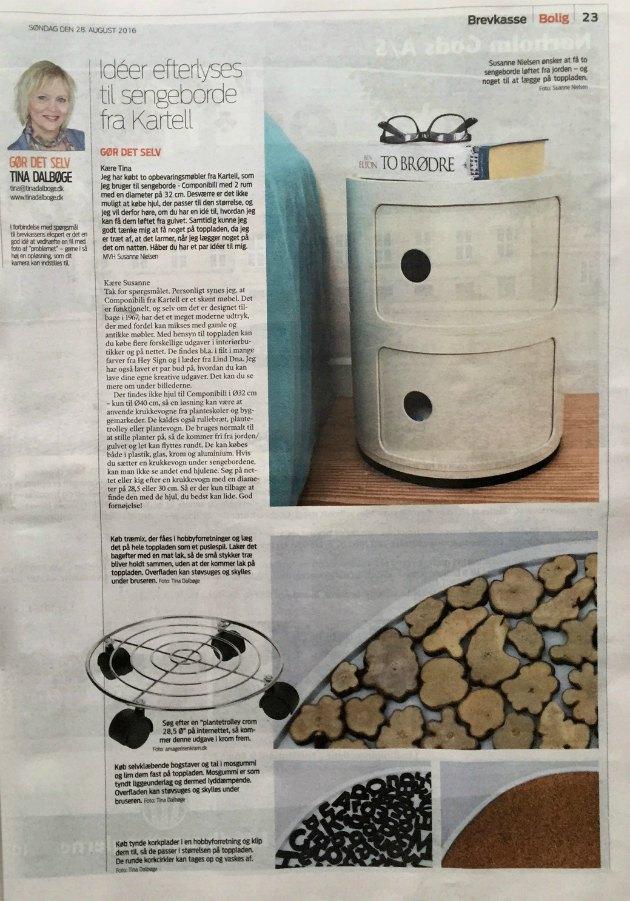hvordan får man hjul under kartell Componibili ø 32 tina dalbøge brevkasse i jyllands posten jp