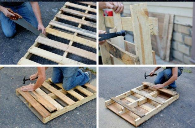 hvordan kan man lave en palle om til et sofabord Tina Dalbøge