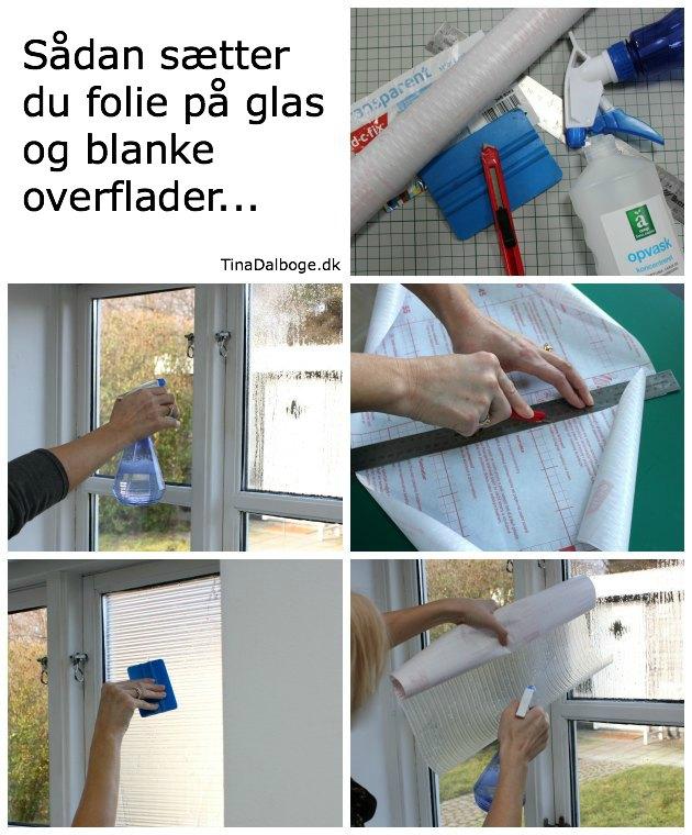 selvklæbende folie til vindueskarm