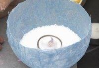 ide med hjemmelavede fyrfadslysholdere vist af Tina dalbøge i TV2 fri
