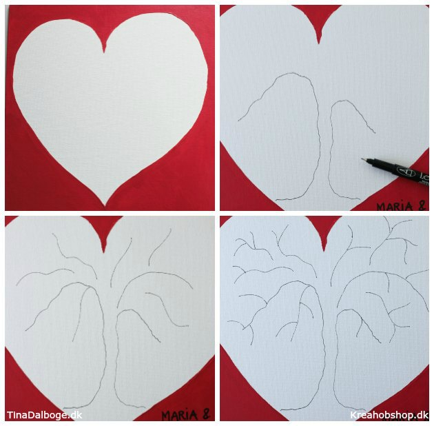 ide til indslag til bryllup sådan tegner man et træ til et gæstetræ med fingeraftryk materialer fra kreahobshop