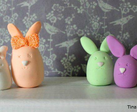 ideer til påske af silkclay og foamclay