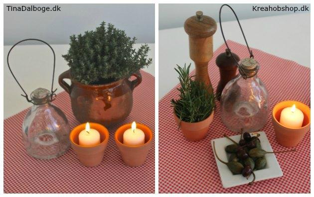 inspiration til bordpynt til fest med italiensk tema kreahobshop