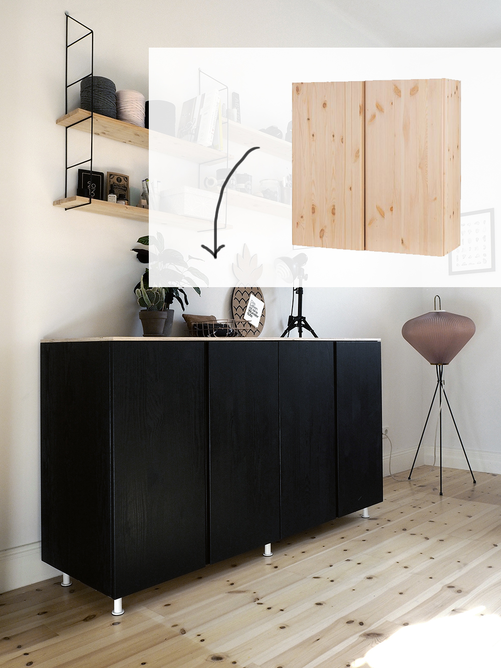 id til skabe med l ger til opbevaring af ting og. Black Bedroom Furniture Sets. Home Design Ideas