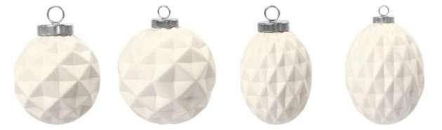 julekugler i ler med diamant mønter