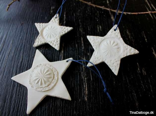 DIY juleophæng i selvtørrende ler
