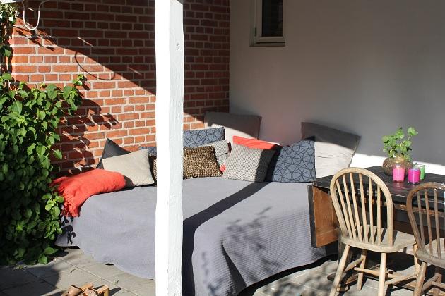 udendørs daybed ved terrassen