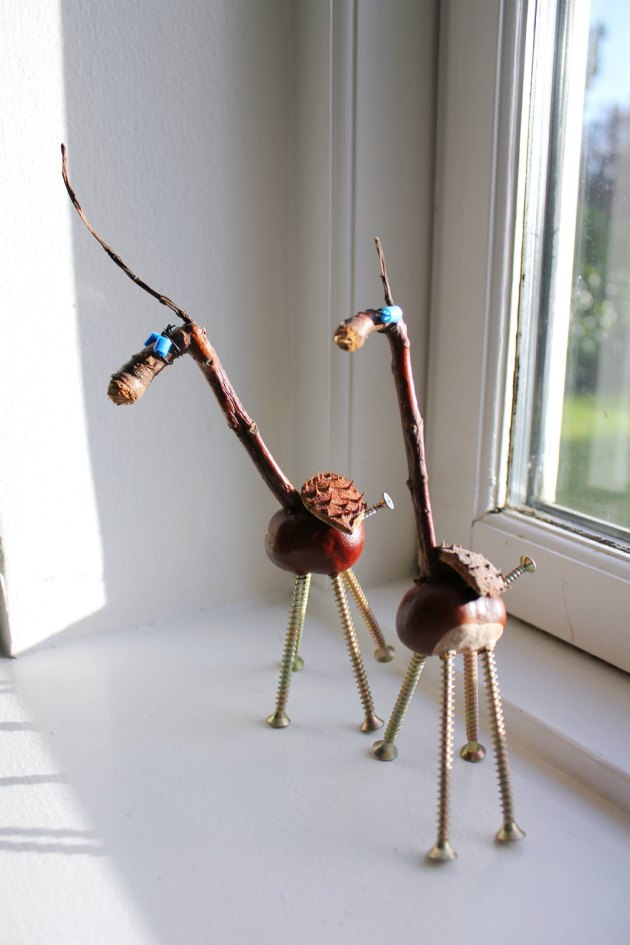 kastanjedyr - foto fra e-bogen Kreative kastanjer