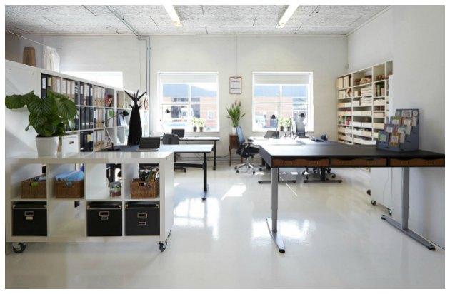 kontormiljø i fotostudie