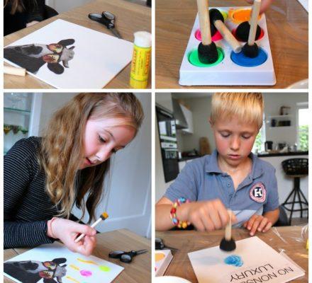 kreativ børneide - lav selv malerier som gaver