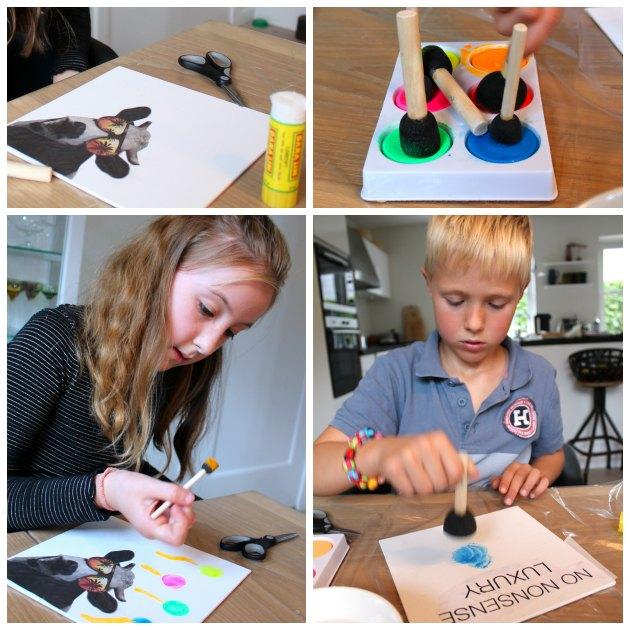 Kreative gaver med flotte neonfarvede malerier børn selv kan laveTinadalbøge.dk