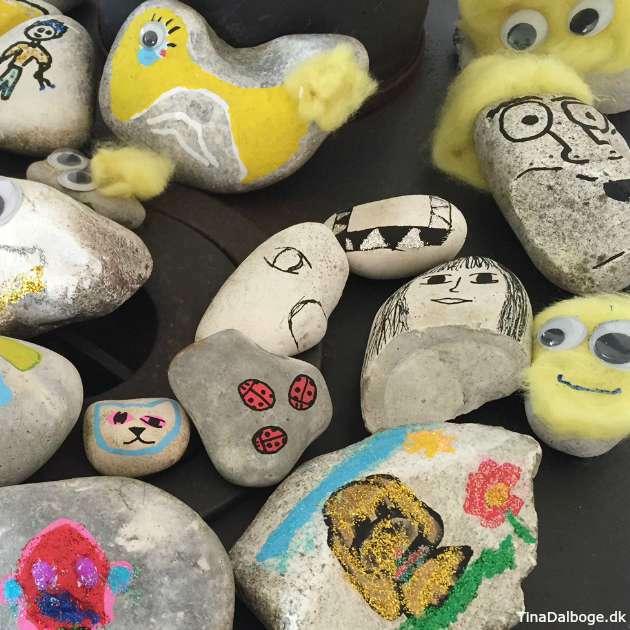 kreative måder at male og tegne på sten