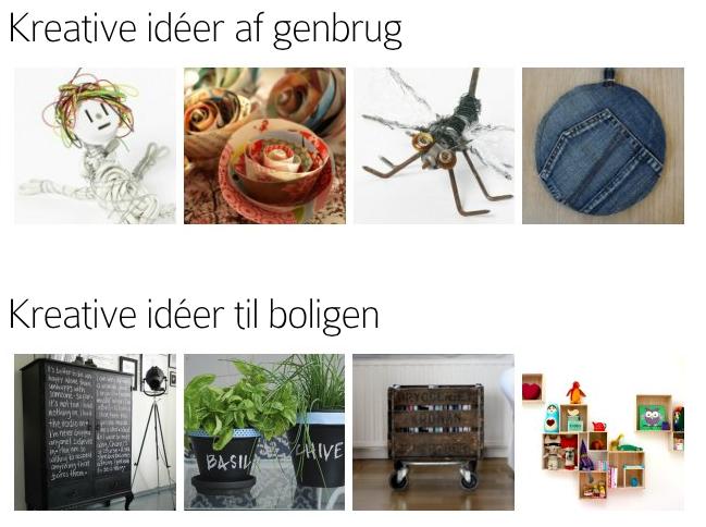 Idébank med årstidernes kreative påfund og input til alle aldre og kreative talenter ...