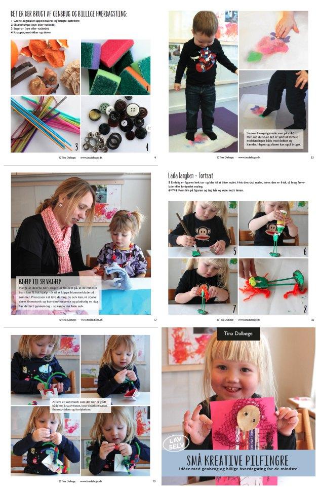 kreative ideer til ting små børn selv kan lave. Vuggestuebørn og ideer til dagplejere. Fra e-bogen Små kreative pilfingre af Tina Dalbøge