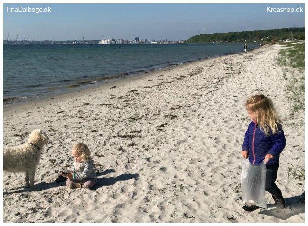 kreative ting børn kan lave af ting fundet på en strandtur tinadalboge