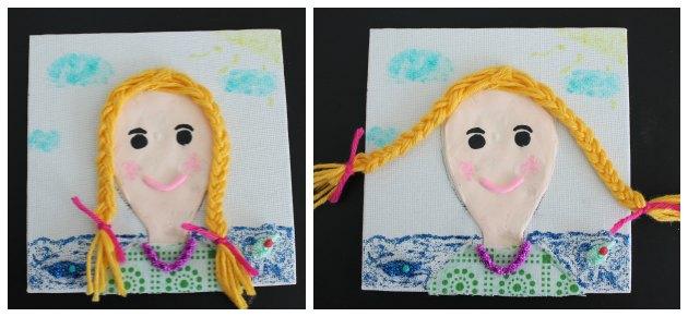 kreativt selvportraet boern selv kan lave ud af silk clay