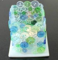 Lav selv lysglas af knapper og Paverpol