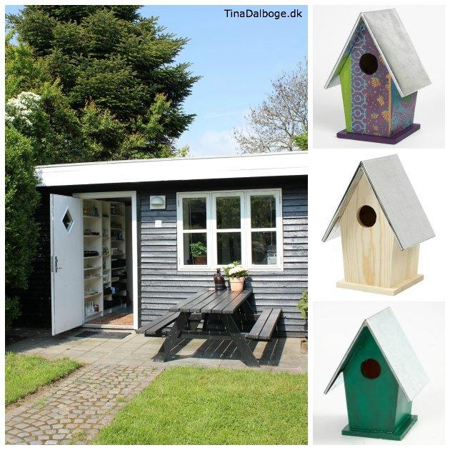 mejse-fuglehuse til haven med aftageligt zinktag