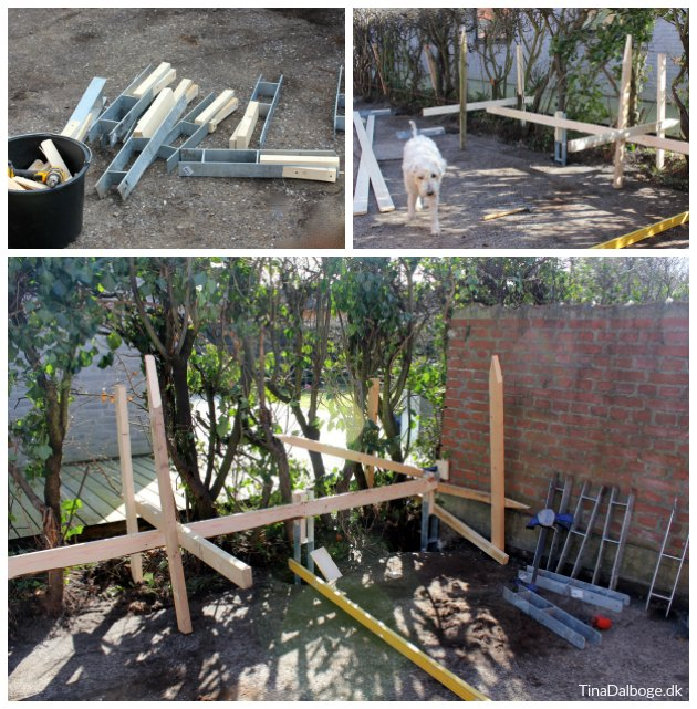 montering af hegn og stolper fra plus terrasse gårdhave tinddalboge