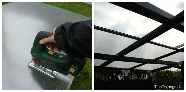 montering af zink tagrende på udekøkken overdækning af terrasse