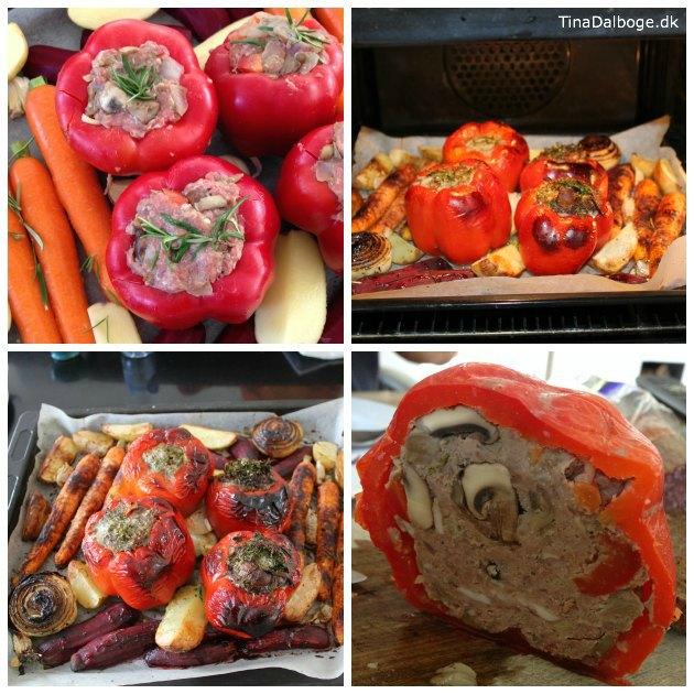 opskrift på fyldte peberfrugter