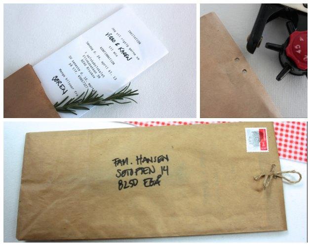 papirspose som anderledes kuvert til fest og indbydelser