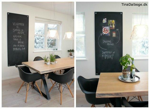 plade malet med tavlemaling i stuen - tavlelmaling fra Tina Dalbøges Kreahobshop.dk