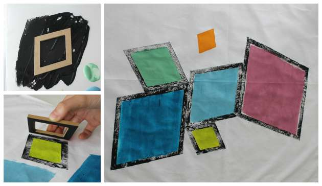 Tryk på tekstil med tekstilmaling