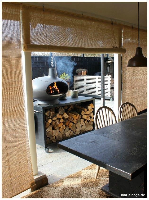 Bauhaus Rullegardin Free Terrasse Med Rullegardin Af Bambus Som Kan Rulles Ned For Solen With