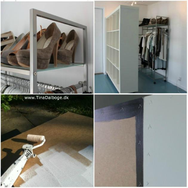 sådan kan du lave et garderobeskab af en rumdeler