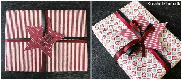 sådan kan man pakke gaver ind på en enkel måde gavepapir fra kreahobshop