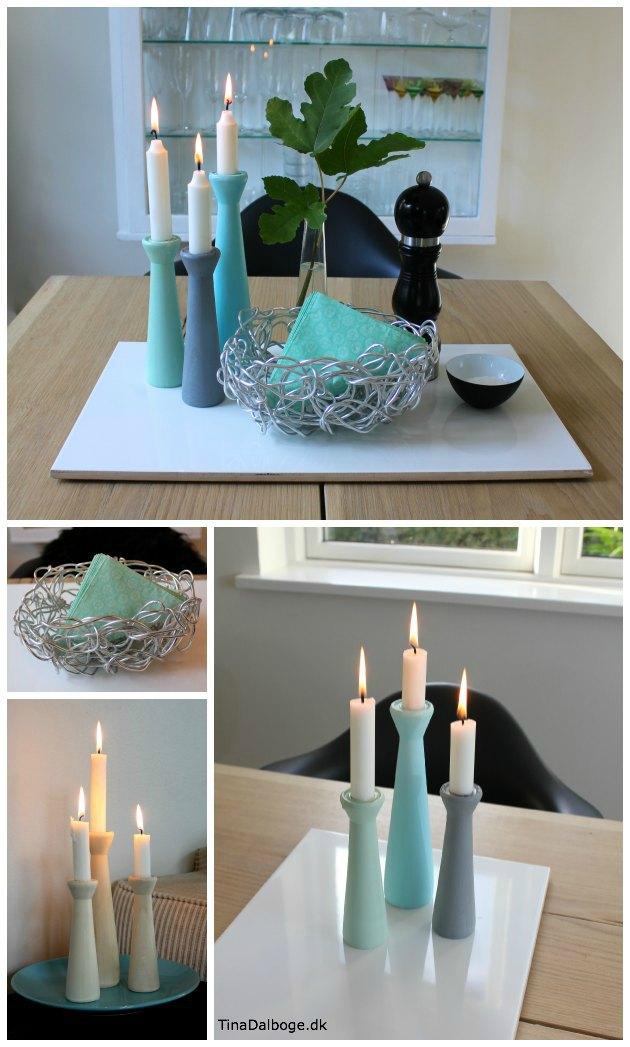 Sådan kan du samle pynteting i grupper og få et flottere spisebord ...