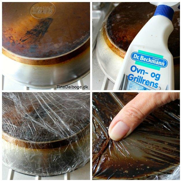 se hvordan man let kan gøre pander og gryder rene uden brug af knofedt