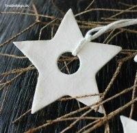 Hvid jul med hvidt stjernepynt