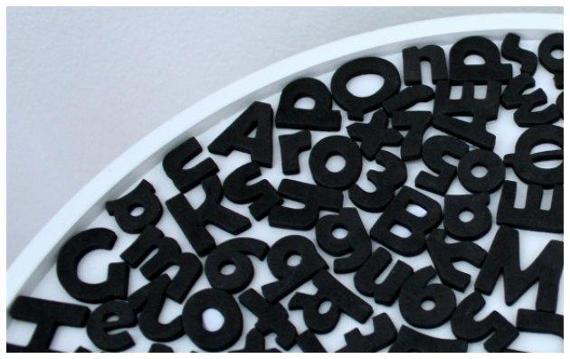 selvklæbende bogstaver og tal i mosgummi fra kreashop